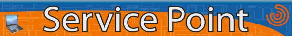 Логотип компании Service Point компания по ремонту ноутбуков телефонов